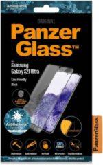 PanzerGlass Anti-Bacterial Case Friendly Screenprotector voor de Samsung Galaxy S21 Ultra - Zwart