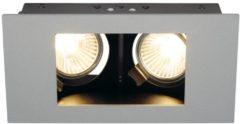 SLV 112434 Indi Rec 2S Inbouwlamp Energielabel: Afhankelijk van de lamp LED GU10 70 W Zilver-grijs