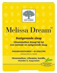 New Nordic Melissa Dream – Rustgevende slaap – Vegan voedingssupplement met citroenmelisse – 40 tabletten