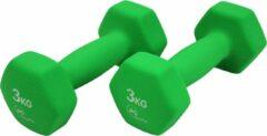 JPS Sports Dumbbells - Dumbbells Set 2 x 3 kg - Gewichten - Halters - Groen