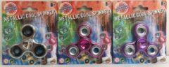 Paarse GeboorteVriendin Metallic Cool Spinners - Uitdeelcadeau - 12 stuks