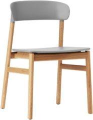 Grijze Normann Copenhagen Herit Oak stoel