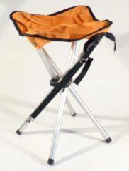 Repusel Campusit lichtgewicht camping / vis krukje - 4-poot - aluminium - Oranje