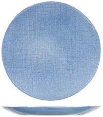 Cosy&Trendy Sajet Blauw Dessertborden - D22cm - Aardewerk - (Set van 6) En Yourkitchen E-kookboek - Heerlijke Smulrecepten