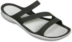 Crocs Swiftwater Slippers - Maat 36 - Vrouwen - groen/beige Maat 36-37