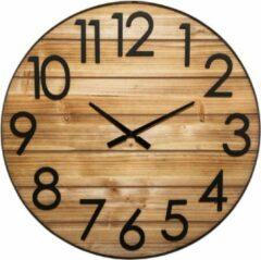 Zwarte Modernklokken.nl Grote Klok Loft-Stijl 70 cm