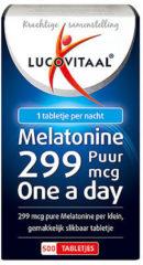 Lucovitaal - Melatonine Tabletjes 0,299 mg - 500 tabletten - Voedingssupplementen