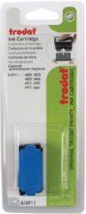 Trodat vervangkussen blauw, voor stempel 4911/4820/4822/4846, blister met 2 stuks