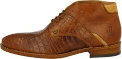 Rehab Footwear Adriano Croco Formal Shoe Men Cognac 44