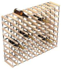 RTA Wijnrek Blank - 101 x 23,7 x 83,7 cm - Hout - 90 flessen