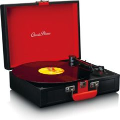 Rode Lenco Classic Phono TT-110 - Platenspeler met Bleutooth en Speakers - Zwart