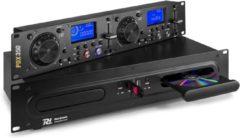 Zwarte DJ CD mediaspeler - Power Dynamics PDX350 dubbele DJ CD en USB mp3 speler