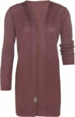 Donkerrode Knit Factory June Gebreid Vest - Stone Red - 40/42