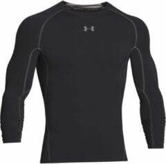 Zwarte Under Armour Men's Armour HeatGear Long Sleeve Compression Top - Black/Steel - XL - Black