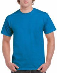 Gildan Saffierblauw of turquoise katoenen shirt voor volwassenen - voordelige kwaliteits t-shirts L (40/52)