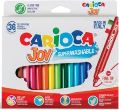 Carioca viltstift Superwashable Joy, 36 stiften in een kartonnen etui