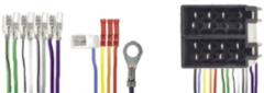 Zwarte Caliber RAC 5700 Zwart kabeladapter/verloopstukje