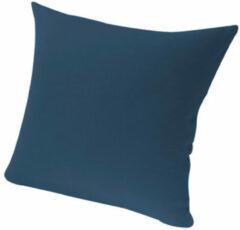 Marineblauwe Biokussensloop, marineblauw 80 x 80 cm