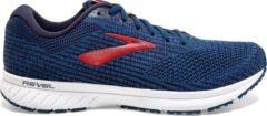 Brooks Revel 3 Sportschoenen - Maat 43 - Mannen - blauw/rood/wit
