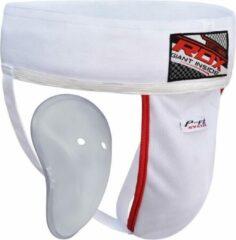 Witte RDX Sports H1 Kruisbeschermer met Gel Cup - Maat S
