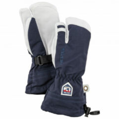 Blauwe Hestra - Kid´s Army Leather Heli Ski 3 Finger - Handschoenen maat 5 blauw/grijs