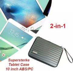 Antraciet-grijze Merkloos / Sans marque Supersterke Tablet Case 10 inch ABS/PC (Antraciet)