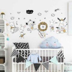 Spicker Muursticker | Dieren die muziek maken | Wanddecoratie | Muurdecoratie | Slaapkamer | Kinderkamer | Babykamer | Jongen | Meisje | Decoratie Sticker