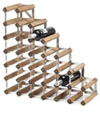 Bruine Traditional Wine Rack Co. Wijntrap 27 Flessen