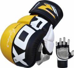 RDX Sports Sparringhandschoenen REX Geel T6 - Maat: M - Leer