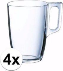 Transparante Luminarc Theeglazen/bekers 4 stuks 320 ml