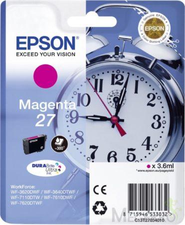 Afbeelding van Epson inktcartridge 27 magenta, 300 pagina\'s - oem: c13t2 7034010