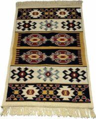 Sunar Home Kelim Vloerkleed Yamadi - Kelim kleed - Kelim tapijt - Oosterse Vloerkleed - 60x90 cm - Loper - Tafelkleed - Plaid - Met kleine cadeau