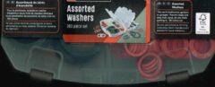 Parkside 383 dichting assortiment diverse afmeting/ 3 kleuren/ in handige box/ assorted washers