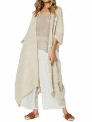 Newchic Vintage Solid Color Drawstring Long Kimono