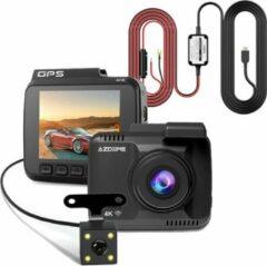Zwarte AZDome GS63H 4K 2CH Dual dashcam voor auto - Continue voeding