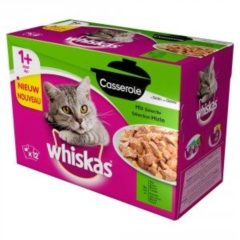 Whiskas - Casserole Adult Selection - Mix van 4 smaken- 4 dozen van 12 x 85gram