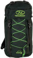 Highlander Backpack - Unisex - zwart/groen