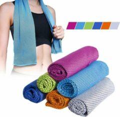 Premium Commerce Verkoelende Handdoek - Koel Handdoek - Cooling Towel - Ice Towel - Fitness Handdoek - Sport - Lichtblauw - 2 stuks