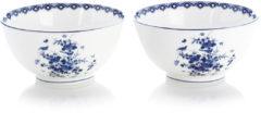 Klevering Schaaltjes - set van 2 - Ø 14 cm - Rijksmuseum - Delfts blauw - kommetjes aardewerk - dessert schaaltjes - kommetje - kommen - relatiegeschenk - Moederdag cadeau