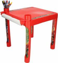 Rode Disney Pixar Cars Kleurtafel met Jumbo Krijtjes - 36x36x36cm | Tekenen met Krijt voor Kinderen | Knutselspullen | Hobbypakket