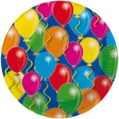 Folat Bord 23 cm met afbeelding van ballonnen