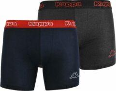 Kappa - Boxer 2 Pack - Zwart - Heren - maat S