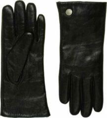 Frickin Ava Touchscreen Winter Handschoenen Dames Leer Zwart met Kasjmier Wollen Voering