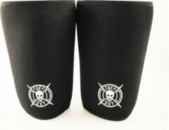Zwarte Tuff Guy Sports Tuff Guy - Professionele Knee Sleeves- XL -7mm- Heavy Duty Support en Hulp bij Fitness, Bodybuilding, Powerlifting, Gewichtheffen en Crossfit