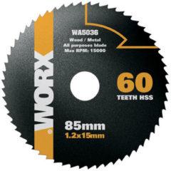 Worx cirkelzaagblad WA5036 hss 85 mm 60 tanden