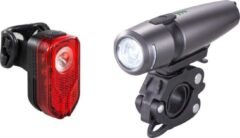 Grijze Lzr Lights FXR-11 USB Fietverlichtingsset - 300 Lumen - UltraHelder - 4 Modes