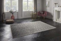 Elle Decor vloerkleden Design vloerkleed 3D Loire Elle Decor - zilver/goud 160x230 cm