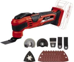 EINHELL Accu Multitool TE-MG 18 Li Solo - Power-X-Change - 18 V - Quick Release - Inclusief 9x schuurvel / 4 accessoires - Zonder accu & lader
