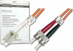 Digitus DK-2531-01 Glasvezel kabel 1 m OM2 LC ST Oranje