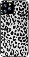 Able & Borret Smartphone hoesje | Telefoon hoesje | Anti shock | Panterprint | Wit | iPhone 11 Pro